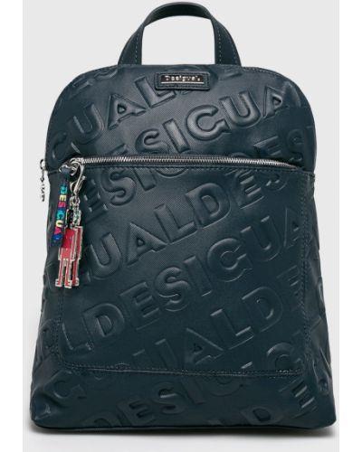 Кожаный рюкзак темно-синий синий Desigual