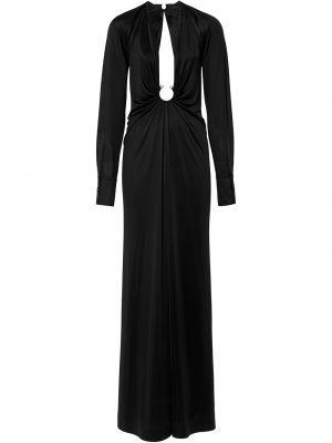 Платье макси длинное - черное Burberry