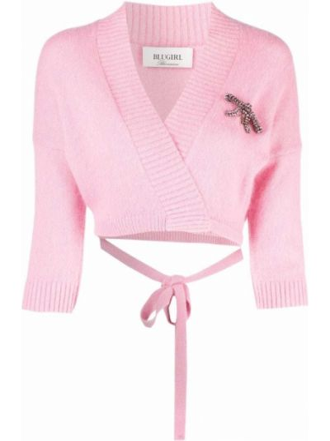 Джемпер с вырезом - розовый Blugirl