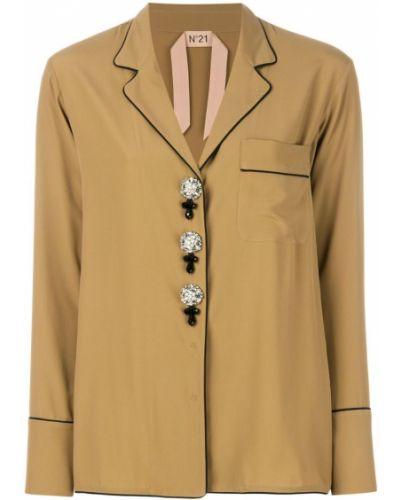 Рубашка с длинным рукавом с карманами на пуговицах N21