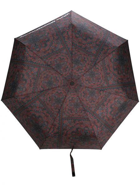Nylon czarny parasol White Mountaineering
