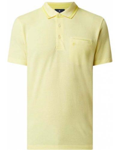 Żółty t-shirt bawełniany Pierre Cardin