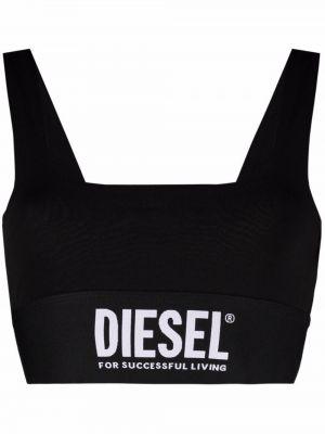 Топ с вырезом - черный Diesel