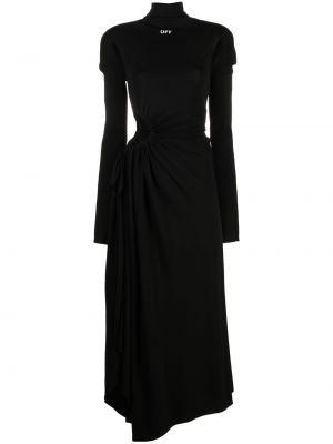 Sukienka długa z długimi rękawami - biała Off-white