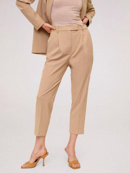 Классические брюки бежевый весенний Mango