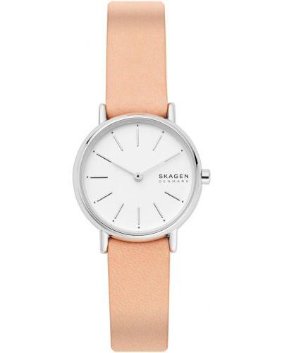 Biały zegarek z siateczką Skagen
