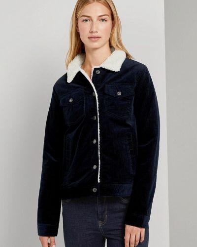 Утепленная синяя джинсовая куртка Tom Tailor Denim
