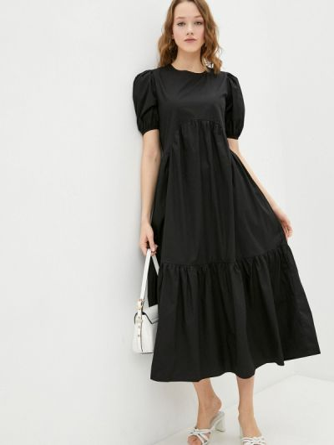 Прямое черное платье А-силуэта Miss Gabby