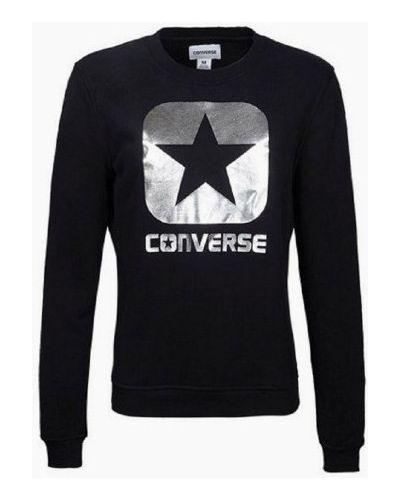 Bawełna czarny bluzka z długimi rękawami Converse