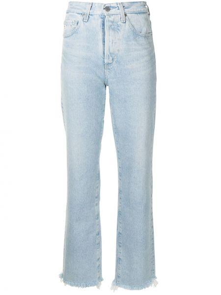 Джинсовые широкие джинсы - синие Ag Jeans