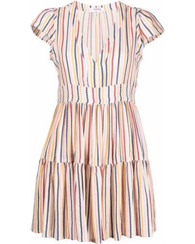 Sukienka mini rozkloszowana w paski krótki rękaw Lemlem