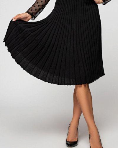 Черная плиссированная юбка Itelle