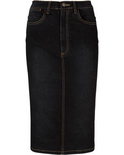 Черная джинсовая юбка Bonprix