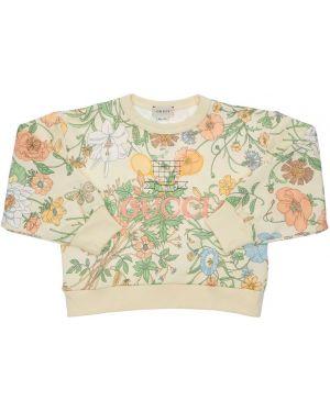 Bluza na szyi z haftem Gucci