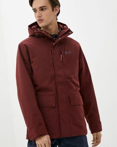 Утепленная куртка - бордовая Jack Wolfskin
