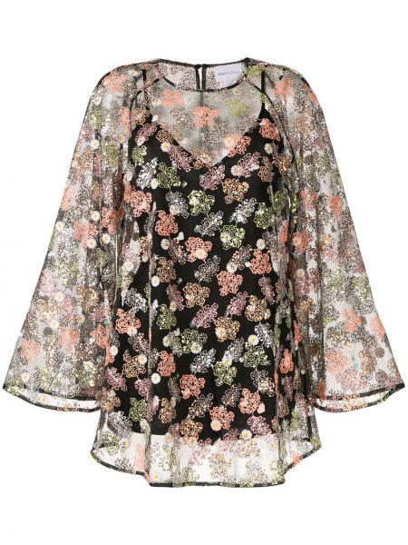 Платье с цветочным принтом черное Alice Mccall