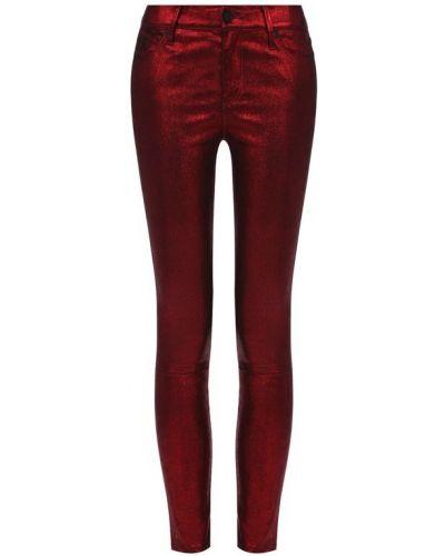 Укороченные брюки зауженные кожаные Rta