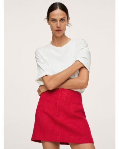 Czerwona złota spódnica Mango