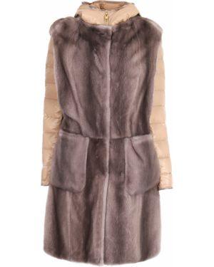 Стеганая куртка на молнии мятная круглая с вырезом Gianfranco Ferre