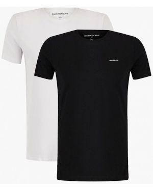 Джинсовая футболка - белая Calvin Klein Jeans