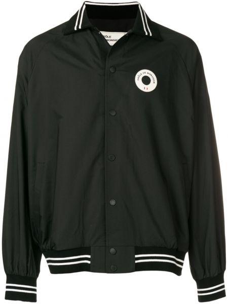 Klasyczna czarna długa kurtka bawełniana Drole De Monsieur