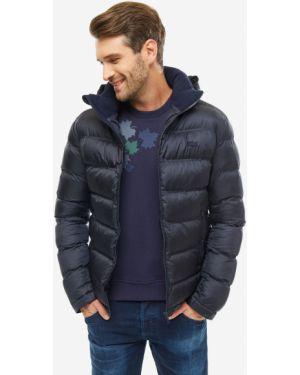 Куртка с капюшоном синяя Lacoste