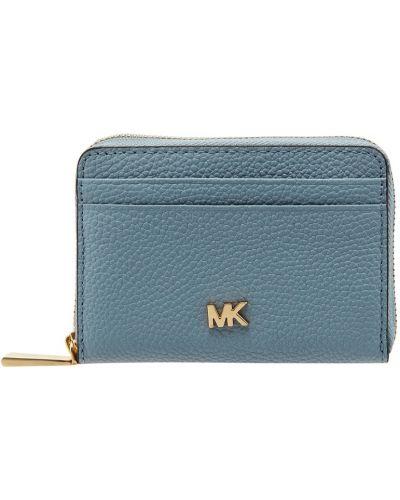 Кожаный кошелек на молнии с логотипом Michael Michael Kors