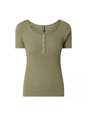 Zielony t-shirt bawełniany Pieces