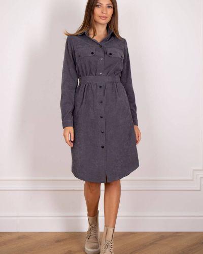 Платье вельветовое - серое Nenka