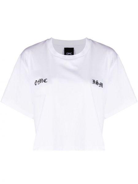 Biały t-shirt krótki rękaw bawełniany Omc