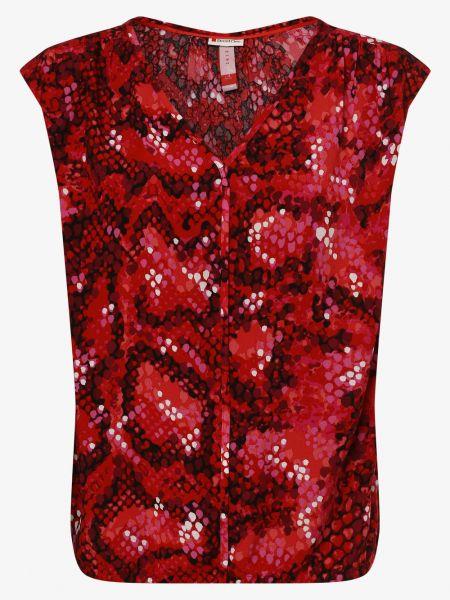 Czerwona bluzka z wiskozy Street One