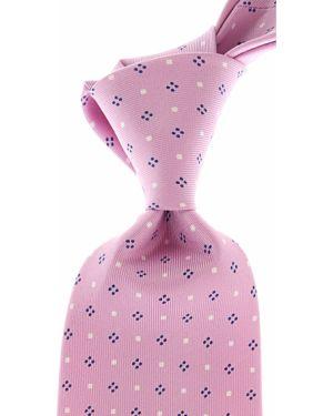 Niebieski krawat z jedwabiu Marinella