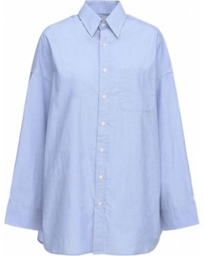 Рубашка на пуговицах оверсайз из поплина R13