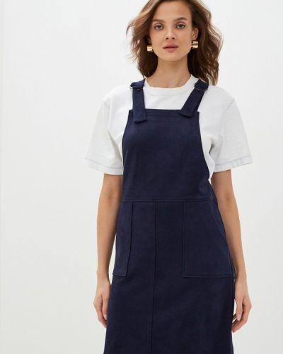 Прямое синее платье Raya