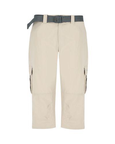 Нейлоновые прямые бежевые брюки Columbia