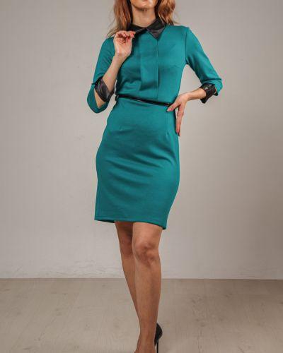 Приталенное классическое платье-футляр с воротником на молнии Lila Classic Style