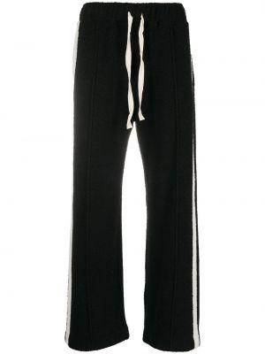 Спортивные брюки из полиэстера - черные Casablanca