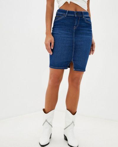 Синяя джинсовая юбка Pepe Jeans