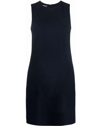 Синее платье из полиэстера Emporio Armani