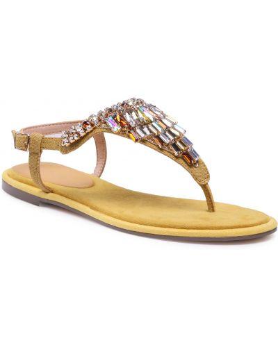 Żółte sandały casual Menbur
