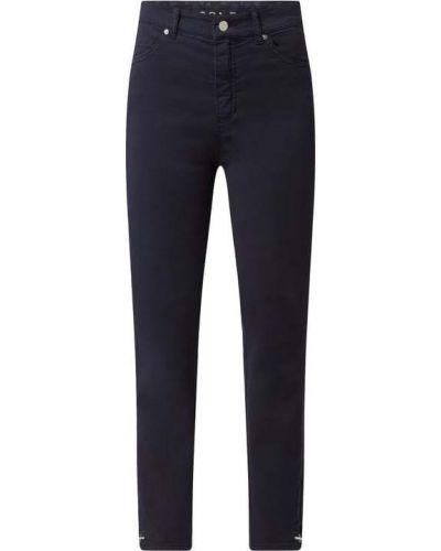 Niebieskie jeansy z wysokim stanem bawełniane Rosner