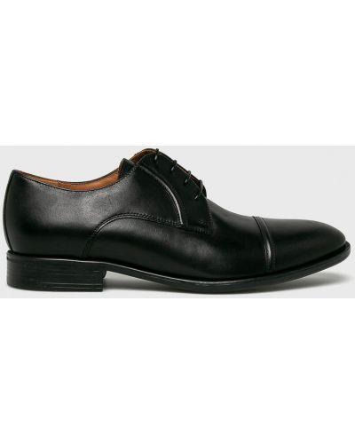 Кожаные туфли на шнуровке черные Gino Rossi