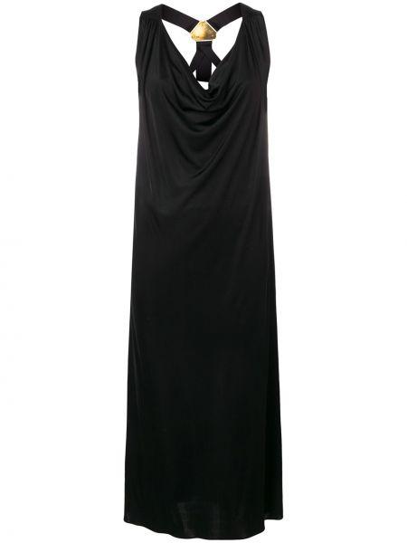 Платье миди средней длины - черное Versus