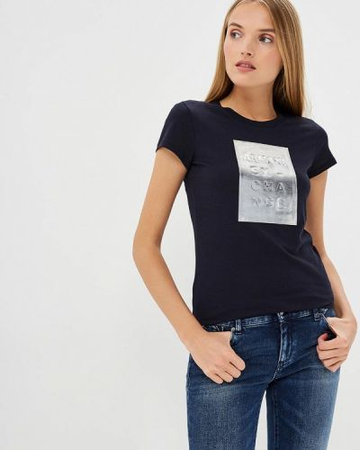 Синяя футболка Armani Exchange