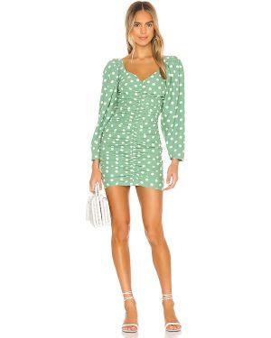 Sukienka mini zielona z suwakiem Lovers + Friends
