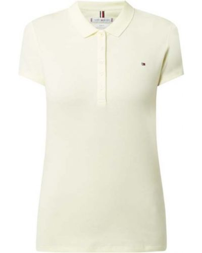 Żółty t-shirt bawełniany Tommy Hilfiger