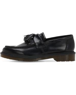 Czarne loafers skorzane Dr.martens