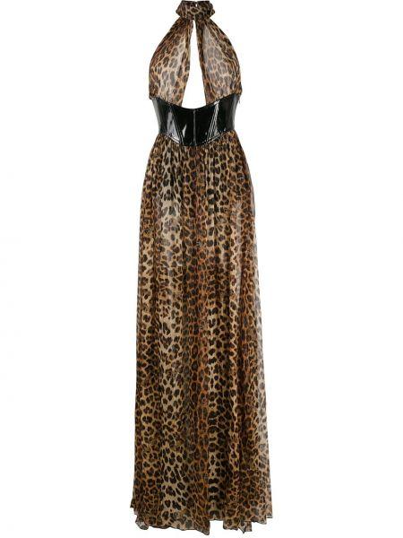 Открытое шелковое платье с открытой спиной Philipp Plein