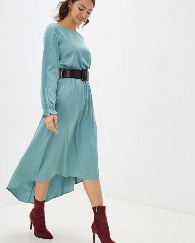 Платье бирюзовый прямое Miss Miss By Valentina