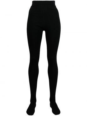 Черные шерстяные колготки Thom Browne